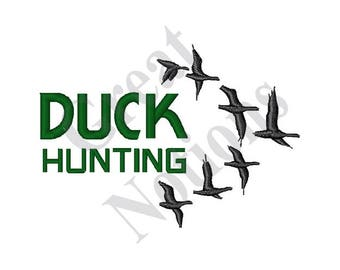 Duck Hunting - Machine Embroidery Design