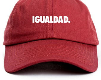 Equality-Spanish Custom Dad Hat Adjustable Baseball Cap New - Cardinal 80240d50b6a7