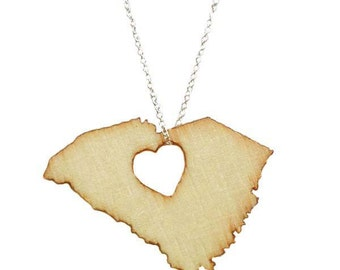 South Carolina Necklace STATES OF LOVE State necklace state jewelry