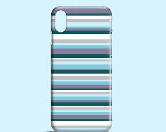 Purple stripes iPhone X case / Bright iPhone 8 case / winter iPhone 8 Plus / stripy iPhone 7 case / graphic iPhone 6/6S case / iPhone 7 Plus