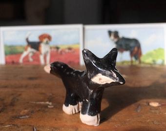 Tiny handmade ceramic fox