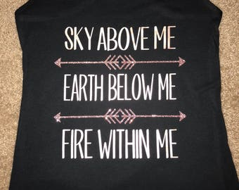 Fire Within Me Workout Tank