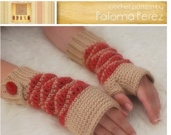 INSTANT DOWNLOAD - Crochet Wave Wristers Pattern - Child to Adult pattern