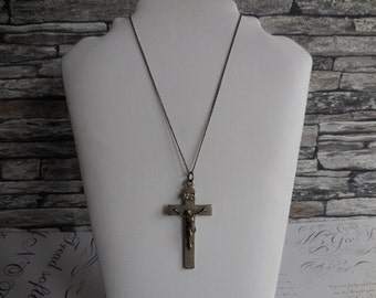 Vintage French Chain with Crucifix.