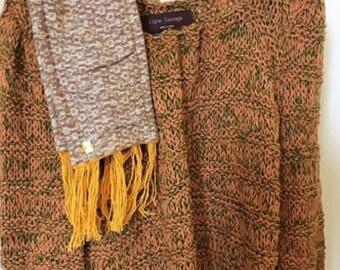 Tan Heather Green sweater