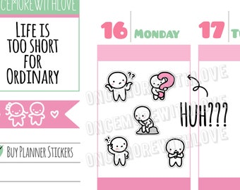Munchkins - HUH?? I'm So Confused! Thinking Planner Stickers (M276)