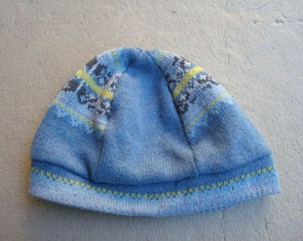 Recycled Cotton Sewn Unisex Light Blue Beanie Hat - Aspen 143C