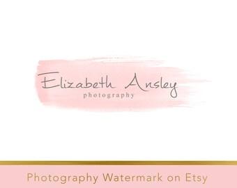 Instant download logo - DIY Premade Logo - Photo Watermark - Watermark Design - Whimsical Logo - Watercolor Logo - PSD logo - Watercolor 123
