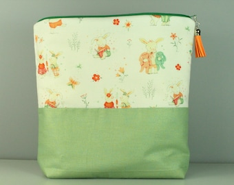 Bunny And His Friends Zip Bag/Pouch