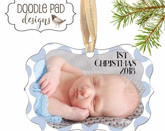 First Christmas Photo Ornament For New Mom Babys First Christmas Ornament 1st Christmas Baby shower gift
