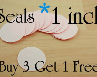 SALE Buy 75 Photo Seals Get 25 Free. 1 inch Round. Use with Glass Domes. Receive 100 Seals. .15 each everyday Sale