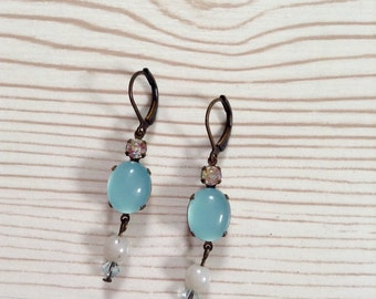 Earrings 'Sky blue'