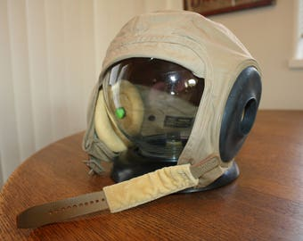 Vintage Slote and Klein WWII Flight Helmet Size Medium Unused
