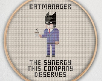 Batmanager The Synergy This Company Deserves Cross Stitch Pattern Instant Download