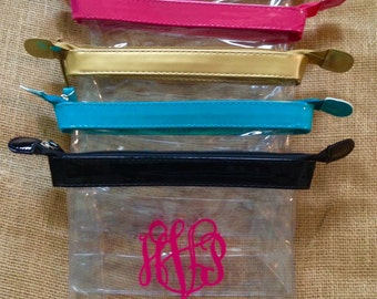 SMALL - Monogram Clear Makeup Bag - Clear Travel Bag