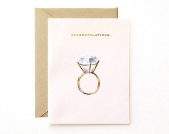Diamond Ring Congratulations Card