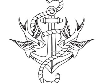 Traditional Anchor Sticker