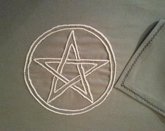 Pentacle Altar Cloth, Table Runner