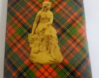 """Genuine Antique Scottish Tartan Ware Book Boards in Albert Tartan 6 3/16"""" (157mm) x 4 17/32"""" (115mm)."""