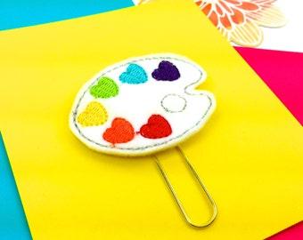 Artist Palette Planner Paper Clip or Magnet | Felt Bookmark Journal Marker | Novelty Paper Clips - Party Favor ideas. Artists Gifts Magnets