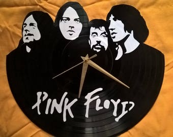 Pink Floyd Vinyl Record Wall Clock - Decorate your home with Modern Large upcycled 12''