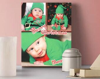 "8"" x 10"" Fabric Collage Photo Print"