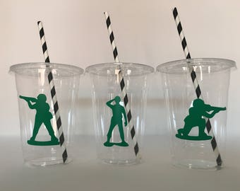 Army Party Cups, Army Birthday Cups,