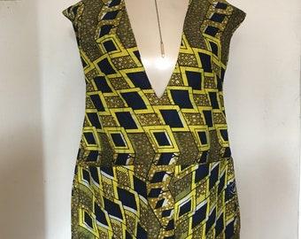 African Print 1960 Inspired Jumper  Dress