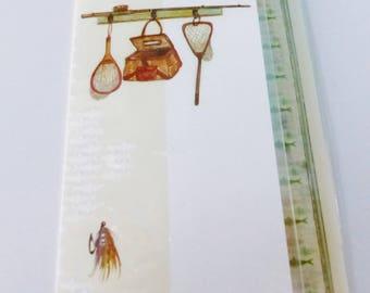 double fishing fish net card birthday card with envelope