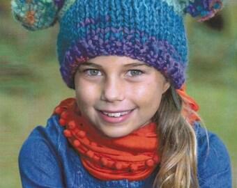 Instant Download - PDF- Lovely Hat, Fingerless Gloves, Poncho & Leg Warmers Knitting Patterns (KA8)