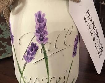 Lavender Flower Mason Jar centerpiece