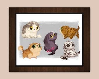 "Cute Scottish Folds 8.5 x 11"" Art Print"
