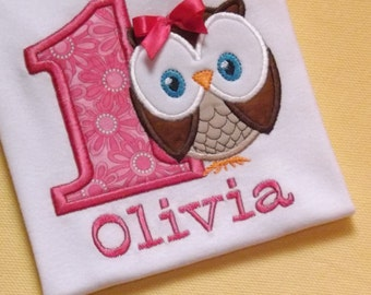 Owl Birthday T-Shirt or Bodysuit
