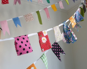 Scrap Bunting perfect for parties, weddings, birthdays or fun times.