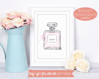 Printable Wall Art, Wall Art Prints, Perfume Wall Art, Perfume Print, Wall Art, Printables, Minimalist Print, Modern Art, Instant Download