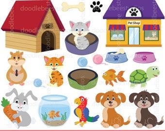 Pets Clipart, Pets Clip Art, Cute Pets Download, Digital Pets, Animals Clipart