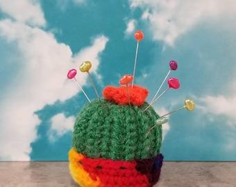 Cactus Pincushion, Crochet Cactus Pin Cushion
