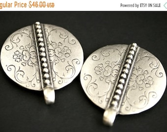 MOTHERS DAY SALE Two (2) Viking Brooches. Scroll and Rivet Silver Apron Pins. Silver Norse Shoulder Brooches. Sca Jewelry. Reenactment Jewel