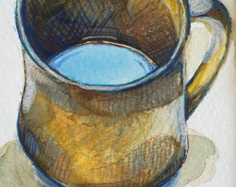 Brown Mug, Blue Sky