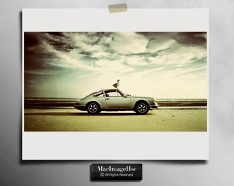 Porsche 911 Photography, Vintage Car Photography , 911 Porsche Car , Classic 1970 Porsche
