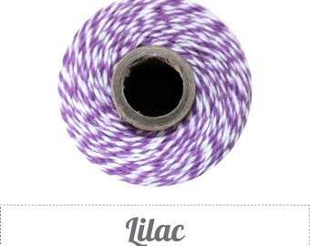 10 yards/ 9.144 m Lilac Purple and White Twine, Bakers Twine