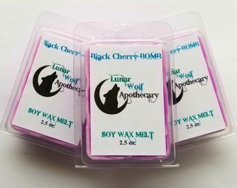 Black Cherry BOMB Wax Melt / Clamshell Wax Melt / Wax Shot Melt / Soy Wax Melt / Stocking Stuffers / Christmas Gift / Gift for Her / Gift