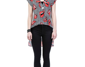 Digital Print Double Breasted Tunic