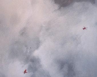 Paper Mind, original landscape oil painting, print