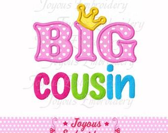 Instant Download Big Cousin  Applique Embroidery Design NO:1577