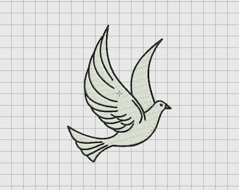 Dove Peace Bird Embroidery Design in 3x3 4x4 5x5 and 6x6 Sizes