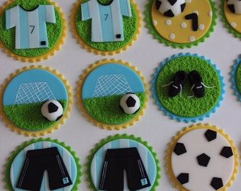 Soccer cupcake or cookies toppers
