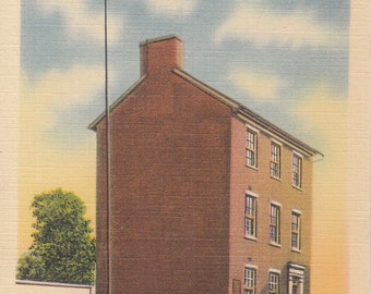 Alexandria, Virginia Vintage Postcard - Alexandria Academy School, George Washington, Robert E. Lee