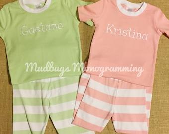 Monogram Spring Pajamas - Easter Pajamas  - Monogram Easter Pajamas - Children Apparel