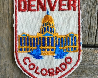 ONLY ONE! Denver, Colorado Vintage Souvenir Travel Patch from Voyager